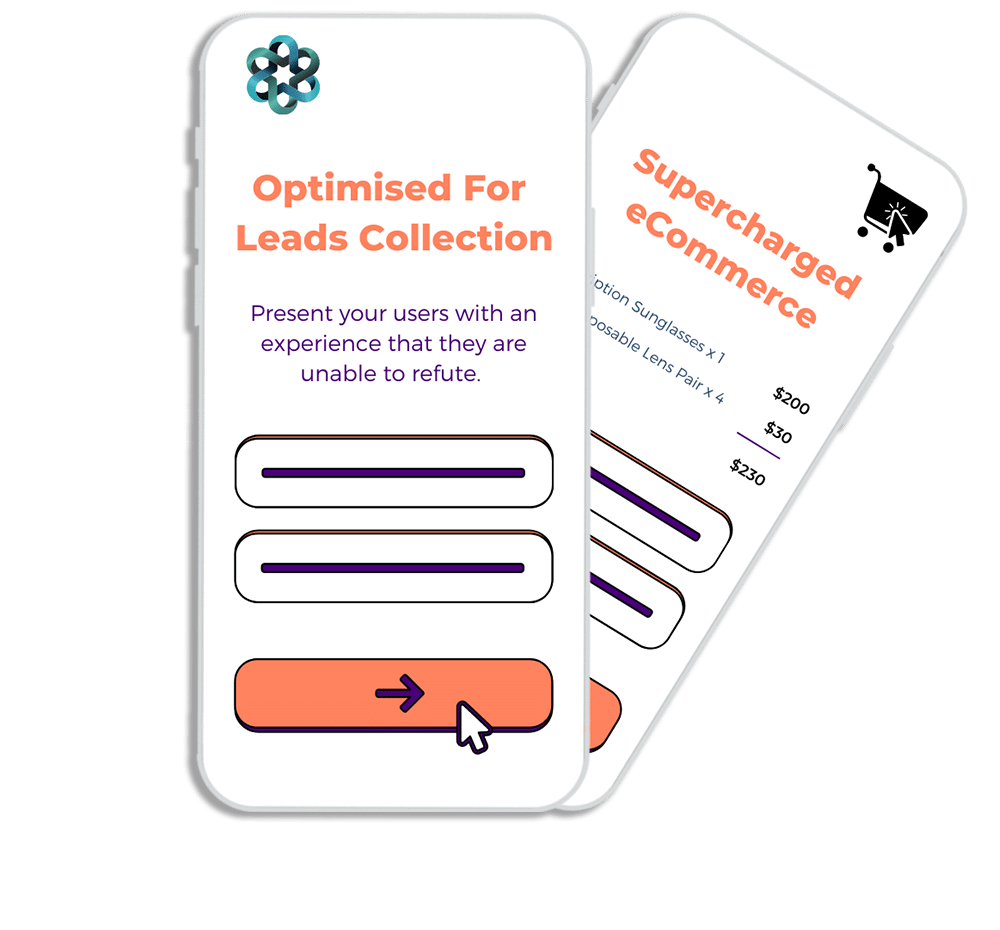 Optimised for leads and eCommerce